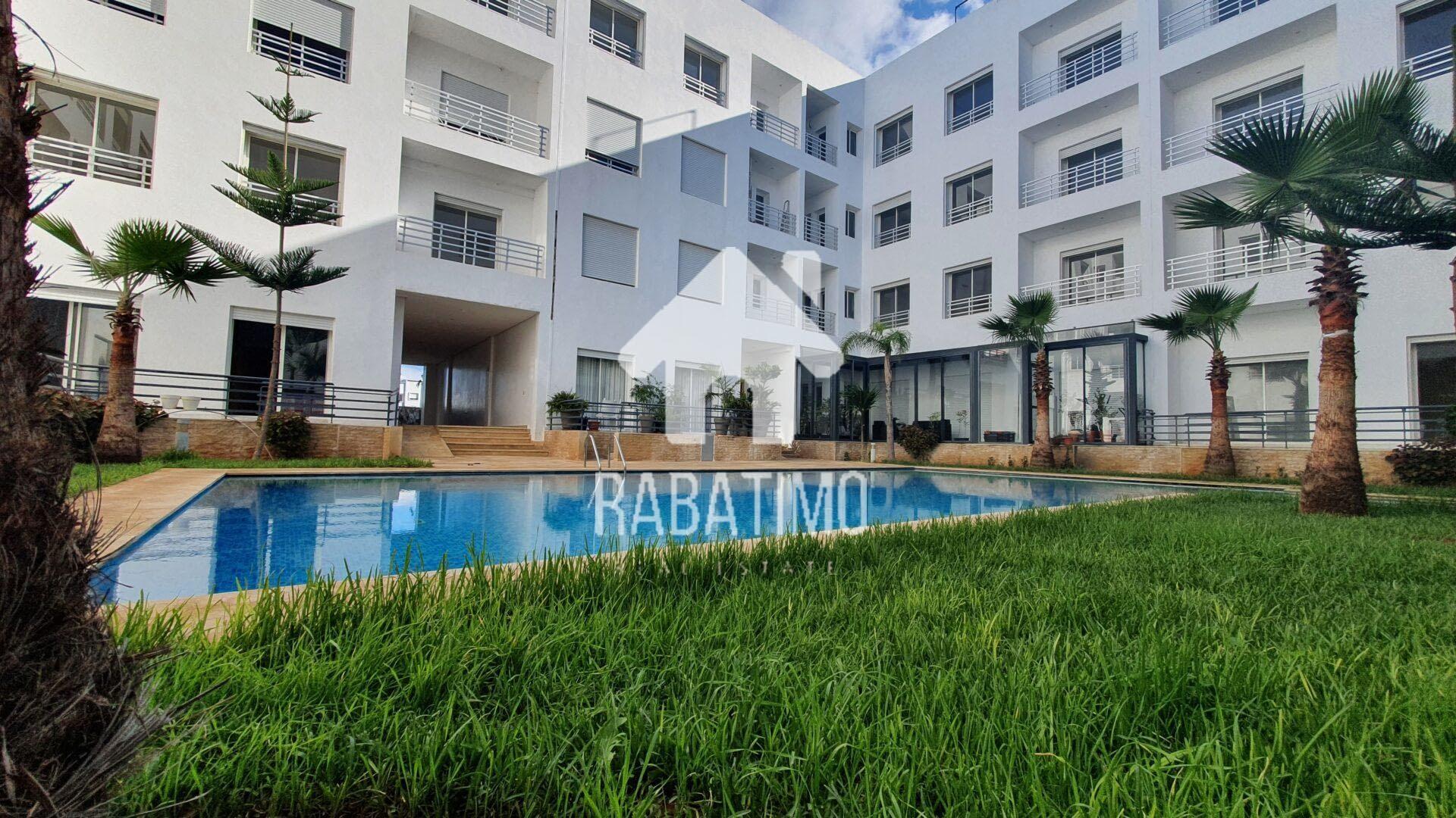 location appartement meublé Harhoura résidence piscine